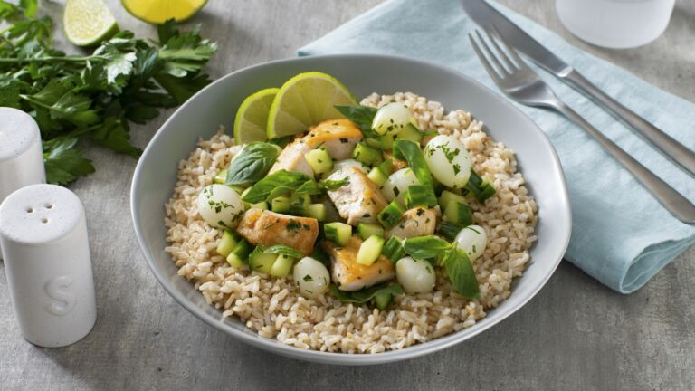 Basil Chicken and Rice