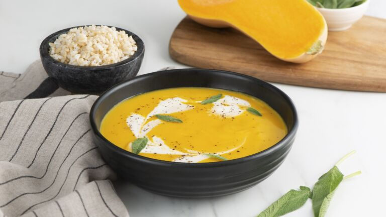 Butternut Squash Soup with Brown Rice