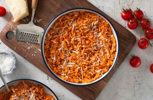 risotto-with-four-cheese-tomato-cream-sauce