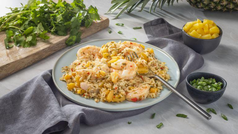 Pineapple and Shrimp Thai Fried Rice