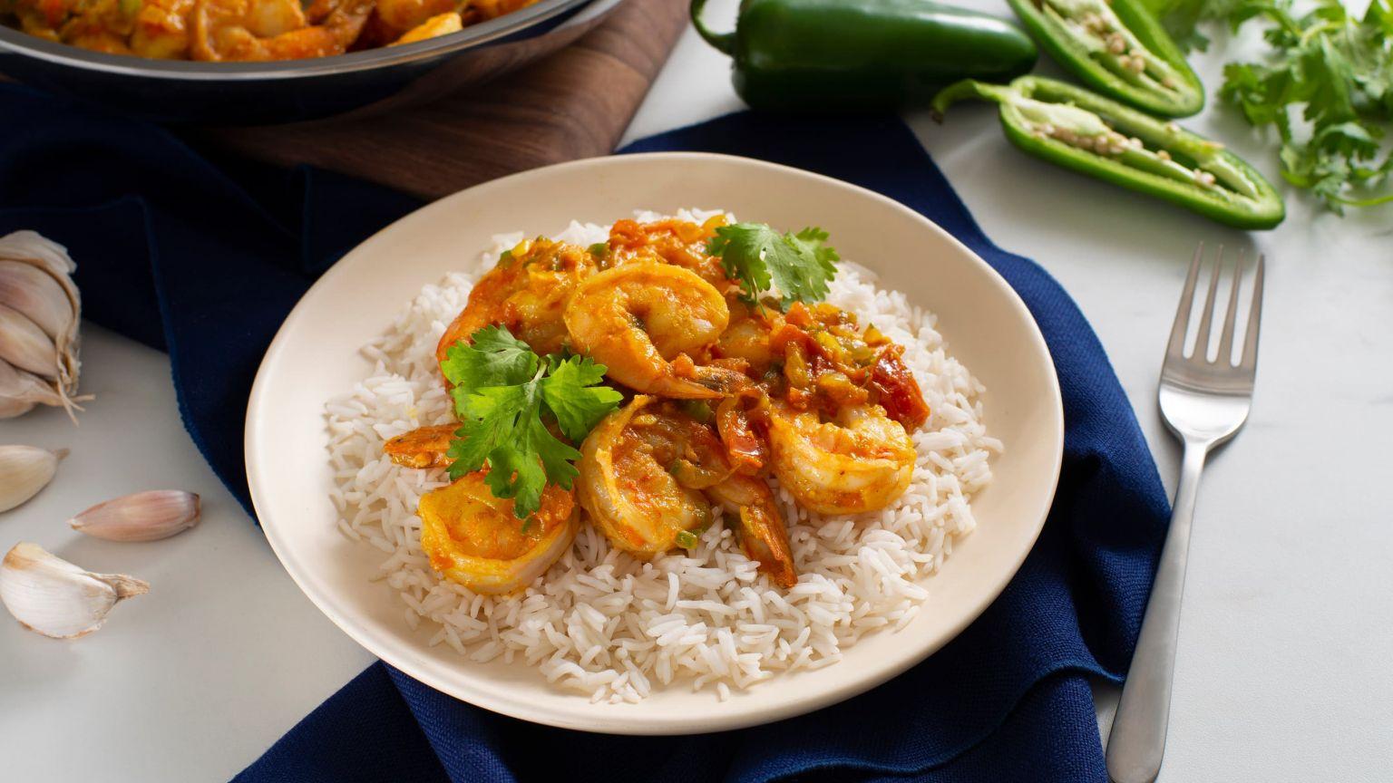 Spicy Indian Shrimp