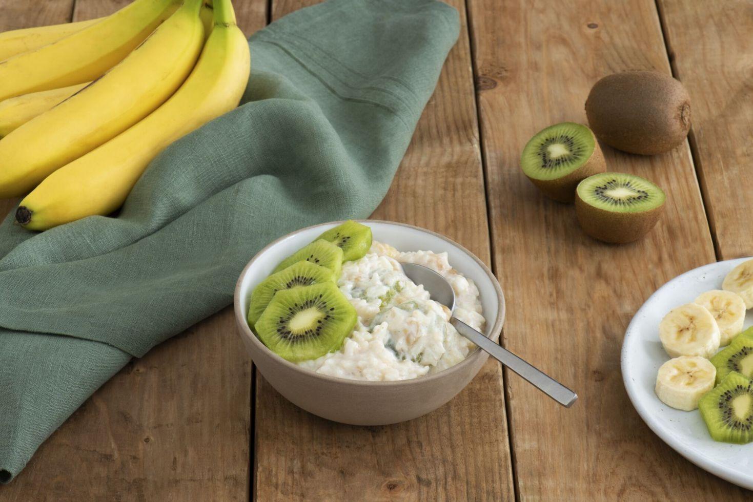 Banana Kiwi Rice Pudding