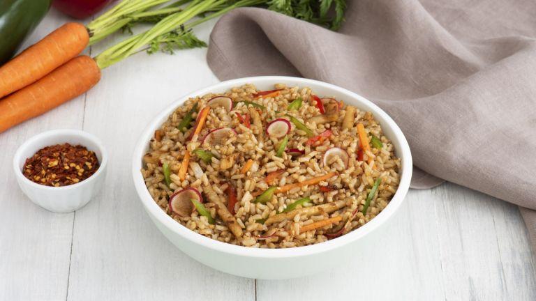 Sesame Brown Rice Salad
