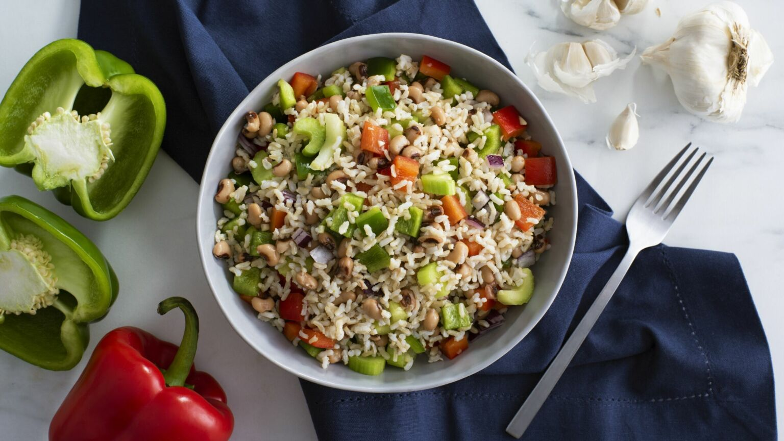 Southern Brown Rice Salad