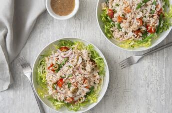 Tuna and Jasmine Rice Salad with tomatoes
