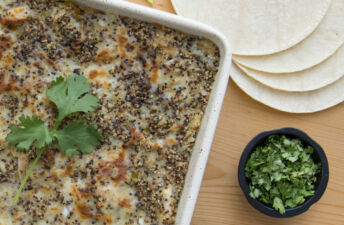 Green Chile Chicken Enchilada Bake with Quinoa