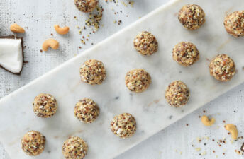 Aloha Quinoa Power Balls on a tray