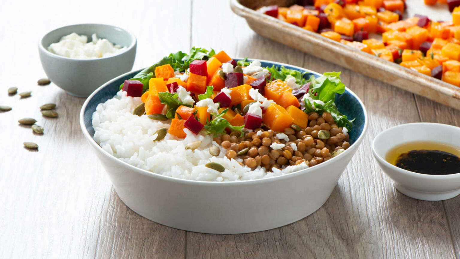 Autumn Vegetable and Rice Power Bowl