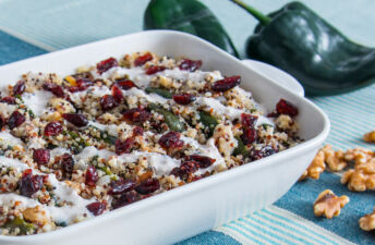 Chile Rellenos with Cranberries and Quinoa
