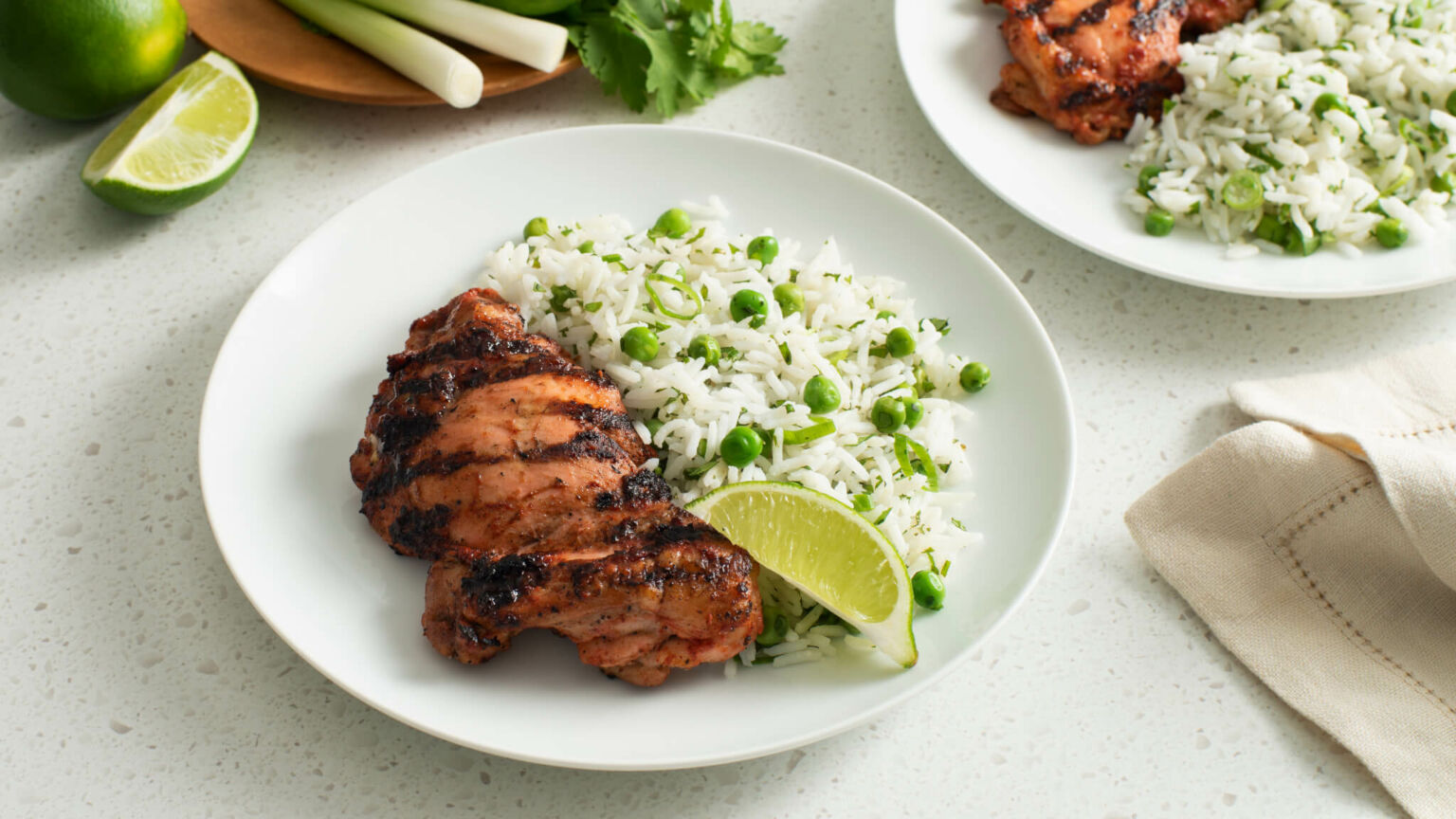 Herbed Basmati Rice with Grilled Tandoori Chicken