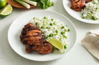 Herbed Basmati Rice with Grilled Tandoori Chicken