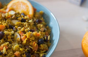 Jeweled Basmati Rice with Orange and Pistachios