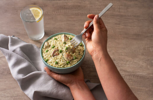 Italian Classic Creamy Pesto Chicken and Rice