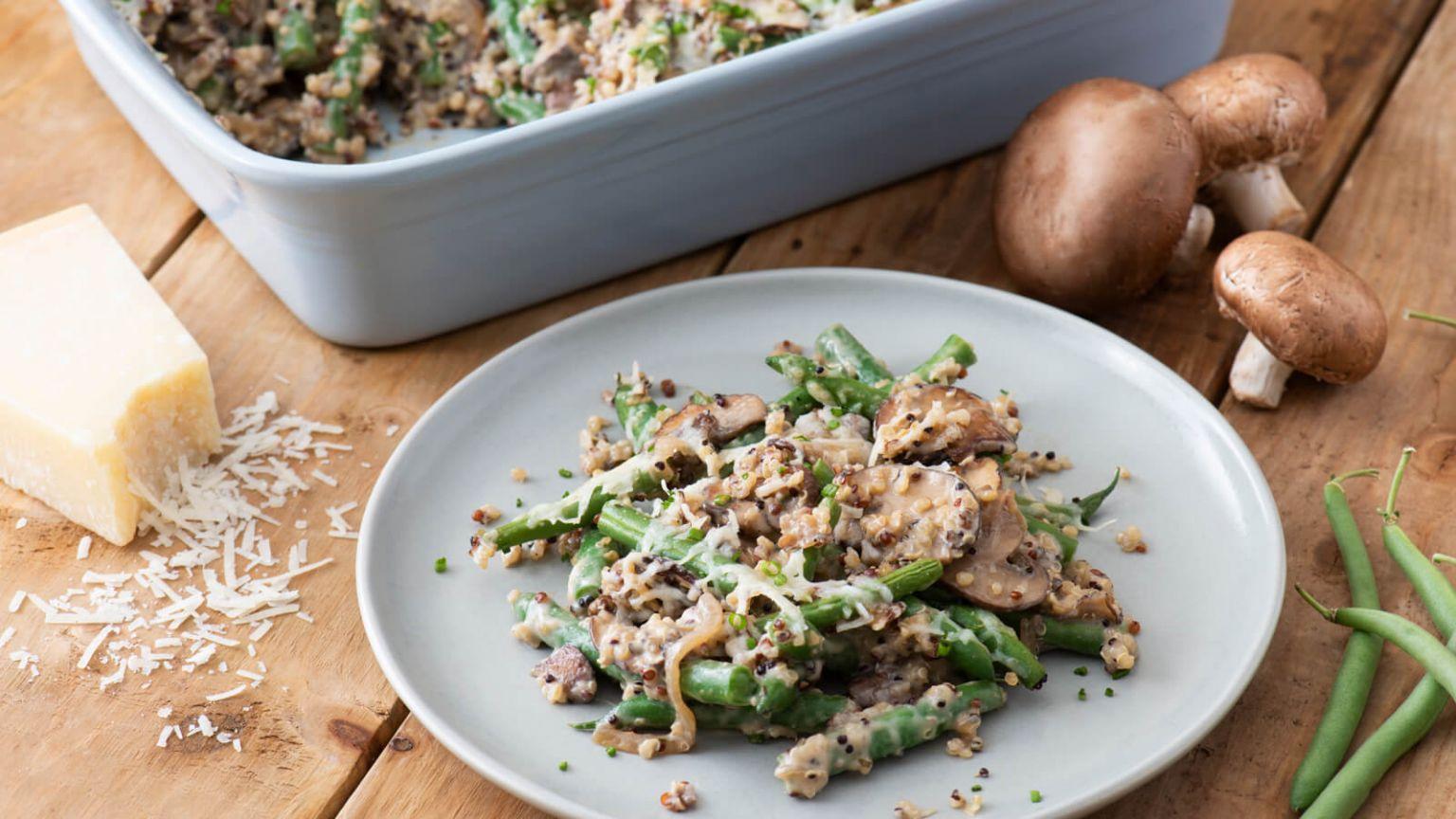 Quinoa Green Bean Casserole