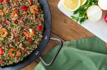 Grilled Summer Quinoa Paella