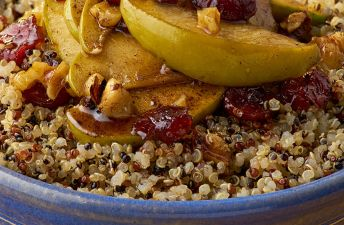 Apple Cinnamon Breakfast Bowl with Quinoa