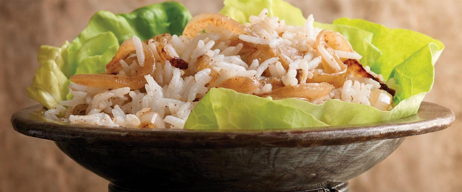 Aromatic Onion Rice Pilaf