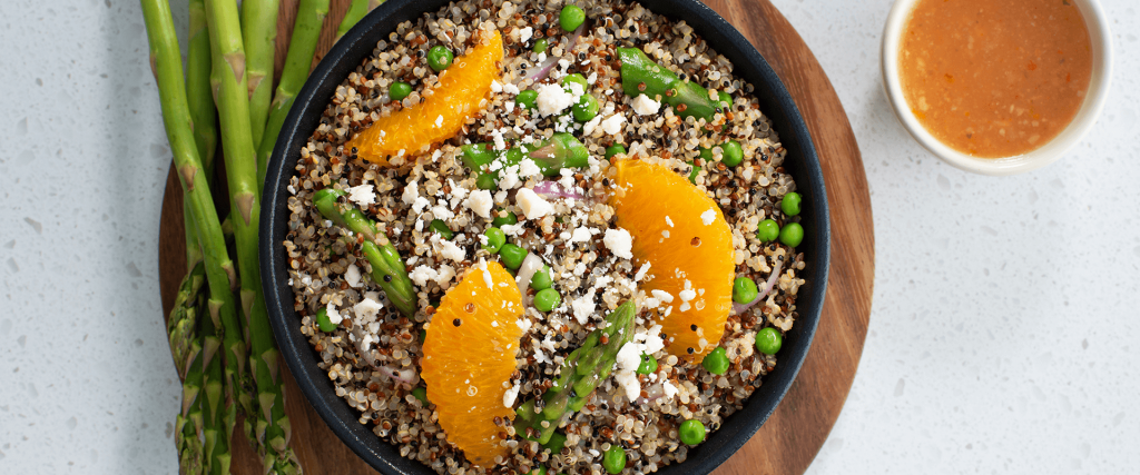 Asparagus and Orange Quinoa Salad