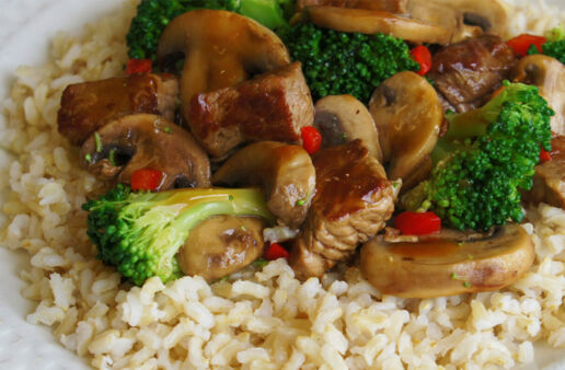 Beef and Broccoli Stir Fry with Brown Rice