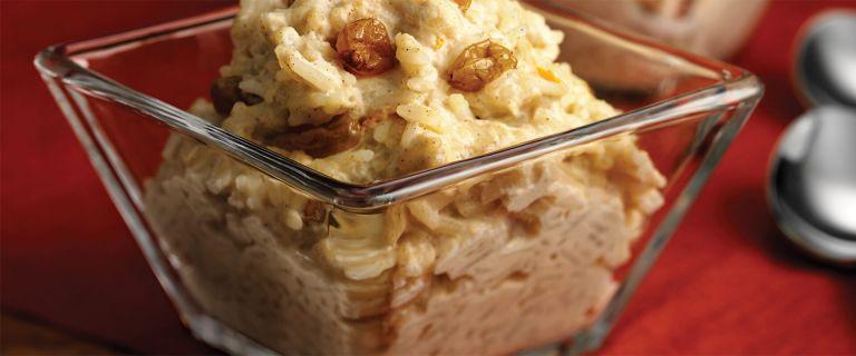 Bourbon Raisin and Basmati Rice Pudding