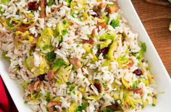 Brussel Sprouts Stir Fry with Jasmine Rice