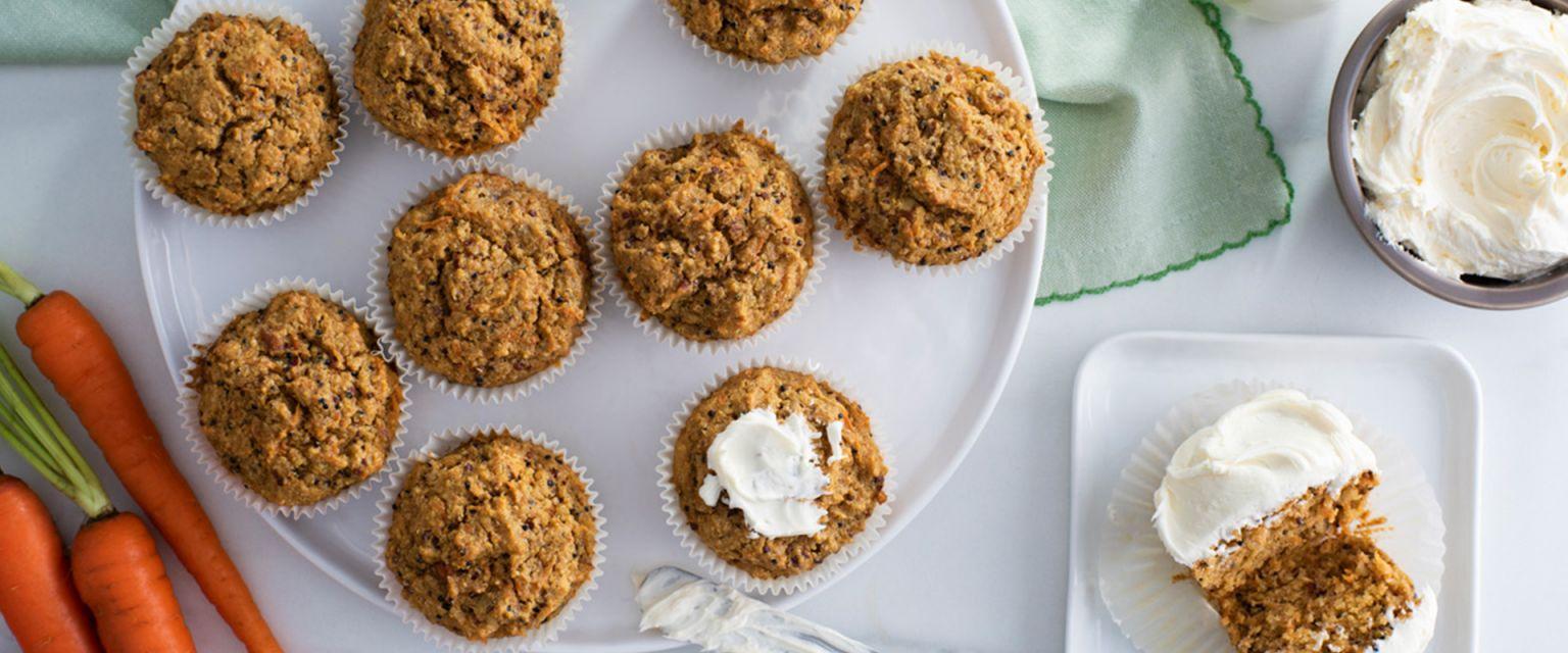 Carrot Cake Quinoa Muffins