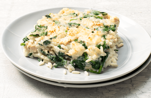 Chicken Florentine Casserole with White Rice