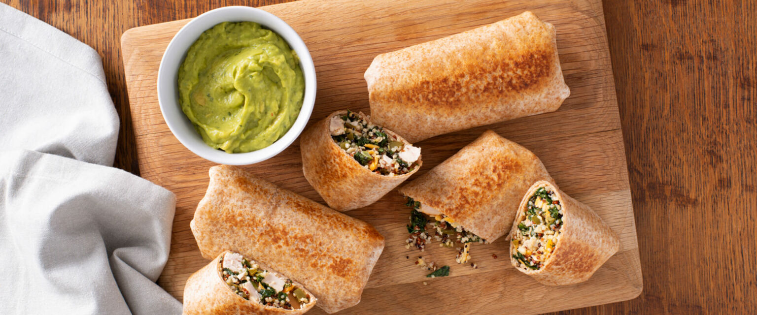 Chicken and Kale Chimichangas