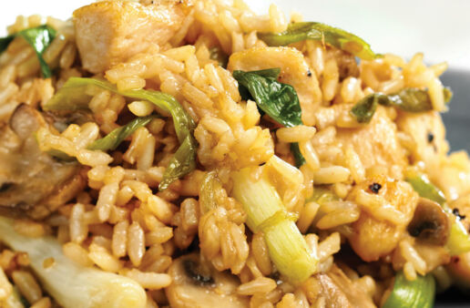 Chicken and Ginger Fried Rice with White Rice