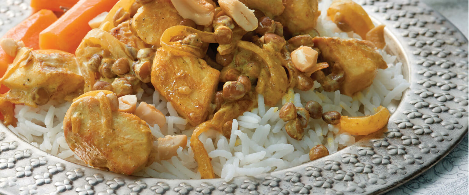 Chicken and Lentils with Cashews