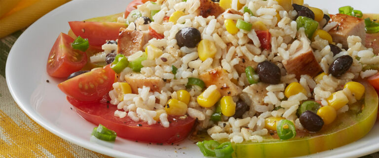 Confetti Beans and Rice with Chicken