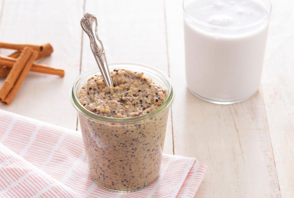 Creamy Brown Sugar Cinnamon Quinoa Pudding
