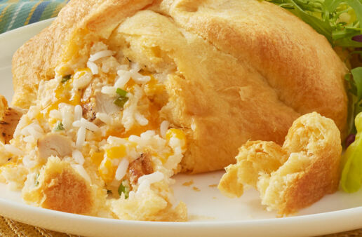 Creamy Chicken and White Rice Popovers