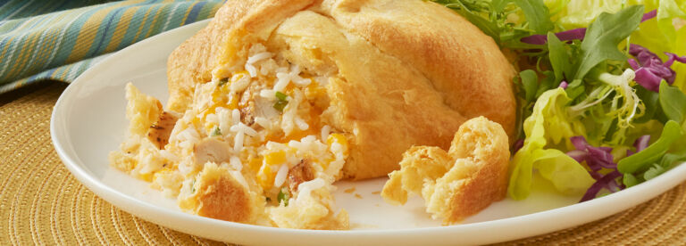 Creamy Chicken and Rice Popovers