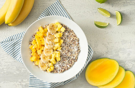 Creamy Coconut Tropical Quinoa Breakfast Bowl
