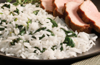 Cumin Rubbed Grilled Pork Tenderloin with Orange Cinnamon White Rice Pilaf