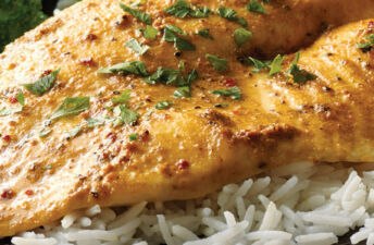 Curried Baked Fish with Basmati Rice