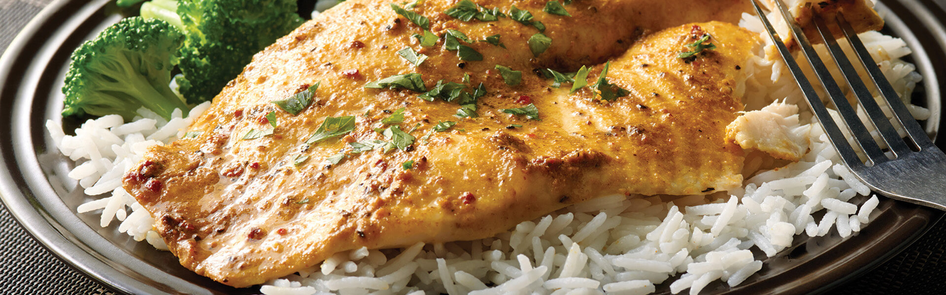 Curry Marinated Baked Fish With Basmati Rice Success Rice