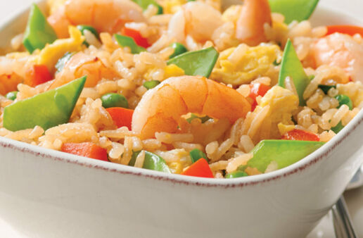 Easy Shrimp Fried Rice with Jasmine Rice