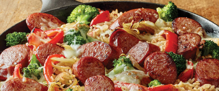 Easy Smoked Sausage and Rice Skillet