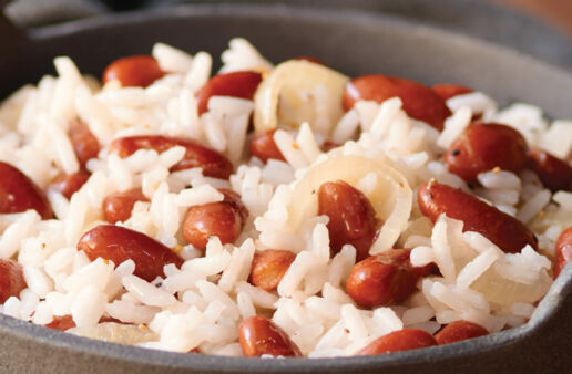 Easy Texan Red Beans and White Rice