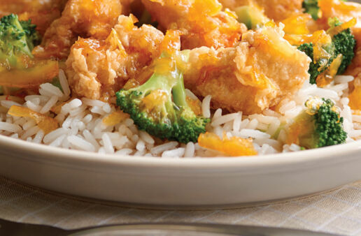 Express Orange Chicken with Jasmine Rice