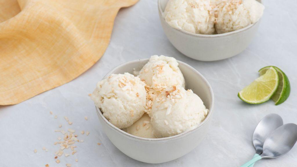 Frozen Coconut Rice Pudding Ice Cream