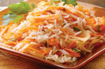 Ginger and Carrot Basmati Rice