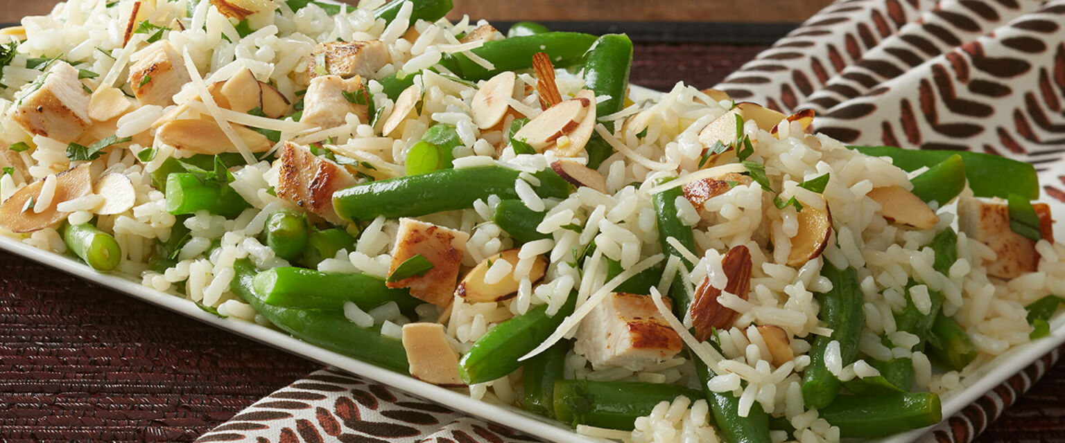 Green Bean Rice Amandine