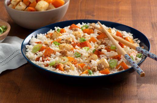 Roasted Vegetable Stir Fry with Jasmine Rice