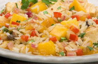 Tangy Mango Chicken and Jasmine Rice