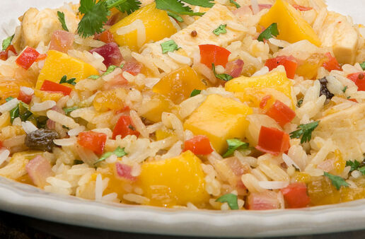 Tangy Mango Chicken and Jasmine Rice