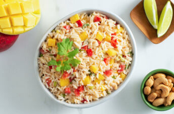 Creamy Mango Coconut Rice