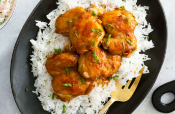 Braised and BBQ Chicken with White Rice